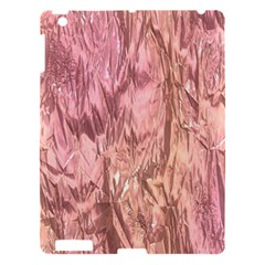 Crumpled Foil Pink Apple Ipad 3/4 Hardshell Case by MoreColorsinLife