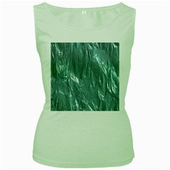 Crumpled Foil Teal Women s Green Tank Tops by MoreColorsinLife