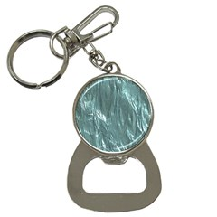 Crumpled Foil Teal Bottle Opener Key Chains by MoreColorsinLife
