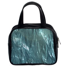 Crumpled Foil Teal Classic Handbags (2 Sides) by MoreColorsinLife