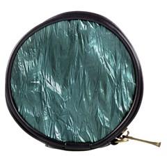 Crumpled Foil Teal Mini Makeup Bags by MoreColorsinLife