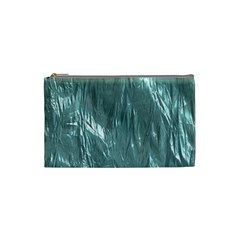 Crumpled Foil Teal Cosmetic Bag (small)  by MoreColorsinLife