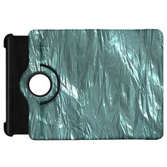 Crumpled Foil Teal Kindle Fire Hd Flip 360 Case by MoreColorsinLife