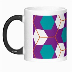 Cubes In Honeycomb Pattern Morph Mug by LalyLauraFLM