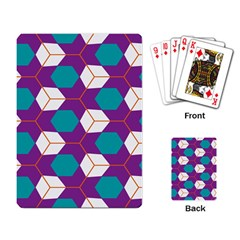 Cubes In Honeycomb Pattern Playing Cards Single Design by LalyLauraFLM