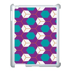 Cubes In Honeycomb Pattern Apple Ipad 3/4 Case (white) by LalyLauraFLM