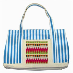 Chevron Pattern Striped Blue Tote Bag by LalyLauraFLM