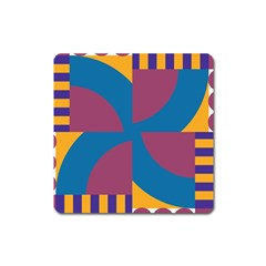Blue Flower Magnet (square) by LalyLauraFLM