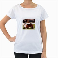 Cardigan Welsh Corgi Full Women s Loose-Fit T-Shirt (White) by TailWags
