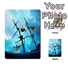 Awesome Ship Wreck With Dolphin And Light Effects Multi Purpose Cards (rectangle)