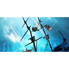 Awesome Ship Wreck With Dolphin And Light Effects You Are Invited 3d Greeting Card (8x4)  by FantasyWorld7