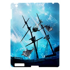 Awesome Ship Wreck With Dolphin And Light Effects Apple Ipad 3/4 Hardshell Case by FantasyWorld7
