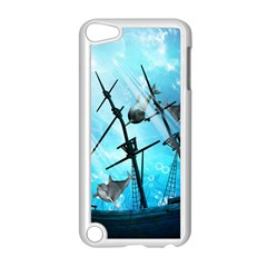 Awesome Ship Wreck With Dolphin And Light Effects Apple Ipod Touch 5 Case (white) by FantasyWorld7