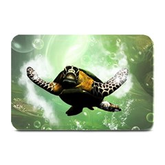 Wonderful Sea Turtle With Bubbles Plate Mats by FantasyWorld7