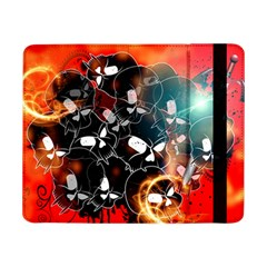 Black Skulls On Red Background With Sword Samsung Galaxy Tab Pro 8 4  Flip Case