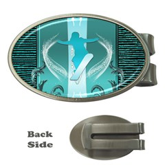 Snowboarder With Snowboard Money Clips (oval)  by FantasyWorld7