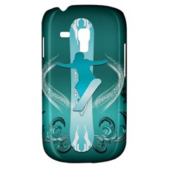 Snowboarder With Snowboard Samsung Galaxy S3 Mini I8190 Hardshell Case by FantasyWorld7