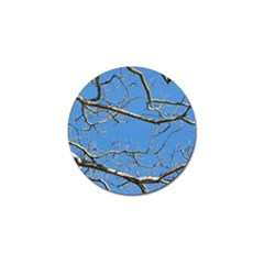 Leafless Tree Branches Against Blue Sky Golf Ball Marker (4 Pack) by dflcprints