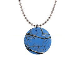Leafless Tree Branches Against Blue Sky Button Necklaces by dflcprints