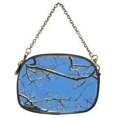 Leafless Tree Branches Against Blue Sky Chain Purses (one Side)  by dflcprints
