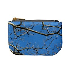 Leafless Tree Branches Against Blue Sky Mini Coin Purses by dflcprints