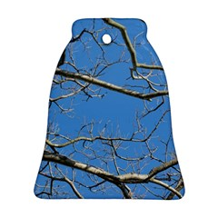 Leafless Tree Branches Against Blue Sky Ornament (bell)  by dflcprints