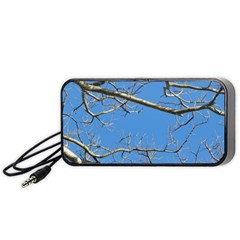 Leafless Tree Branches Against Blue Sky Portable Speaker (black)  by dflcprints