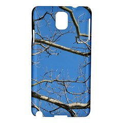 Leafless Tree Branches Against Blue Sky Samsung Galaxy Note 3 N9005 Hardshell Case by dflcprints