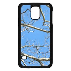 Leafless Tree Branches Against Blue Sky Samsung Galaxy S5 Case (black) by dflcprints