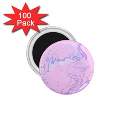 Unique Marbled 2 Baby Pink 1 75  Magnets (100 Pack)  by MoreColorsinLife