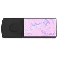 Unique Marbled 2 Baby Pink USB Flash Drive Rectangular (4 GB)  by MoreColorsinLife