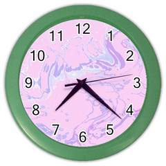 Unique Marbled 2 Baby Pink Color Wall Clocks by MoreColorsinLife