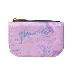Unique Marbled 2 Baby Pink Mini Coin Purses by MoreColorsinLife