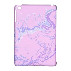 Unique Marbled 2 Baby Pink Apple Ipad Mini Hardshell Case (compatible With Smart Cover) by MoreColorsinLife