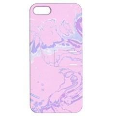 Unique Marbled 2 Baby Pink Apple Iphone 5 Hardshell Case With Stand by MoreColorsinLife