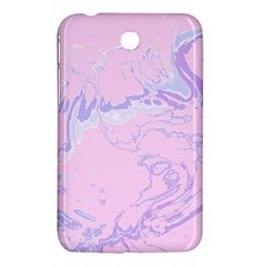 Unique Marbled 2 Baby Pink Samsung Galaxy Tab 3 (7 ) P3200 Hardshell Case  by MoreColorsinLife