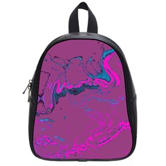 Unique Marbled 2 Hot Pink School Bags (small)  by MoreColorsinLife