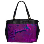 Unique Marbled 2 Hot Pink Office Handbags Front