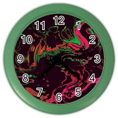 Unique Marbled 2 Tropic Color Wall Clocks by MoreColorsinLife