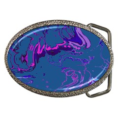 Unique Marbled 2 Blue Belt Buckles by MoreColorsinLife