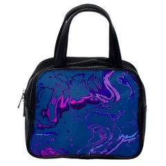 Unique Marbled 2 Blue Classic Handbags (one Side) by MoreColorsinLife