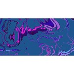 Unique Marbled 2 Blue Congrats Graduate 3D Greeting Card (8x4)  Front