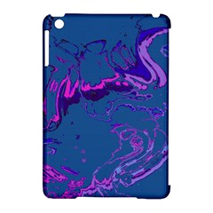 Unique Marbled 2 Blue Apple Ipad Mini Hardshell Case (compatible With Smart Cover) by MoreColorsinLife