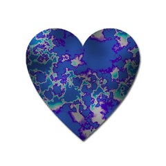 Unique Marbled Blue Heart Magnet by MoreColorsinLife
