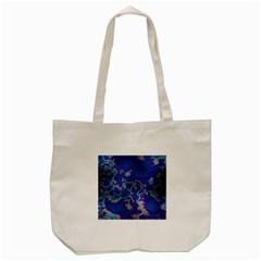 Unique Marbled Blue Tote Bag (cream)  by MoreColorsinLife