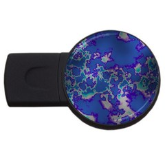 Unique Marbled Blue USB Flash Drive Round (4 GB)  by MoreColorsinLife