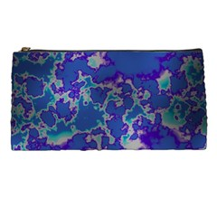 Unique Marbled Blue Pencil Cases by MoreColorsinLife