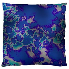 Unique Marbled Blue Large Cushion Cases (one Side)  by MoreColorsinLife