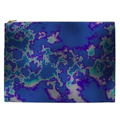 Unique Marbled Blue Cosmetic Bag (xxl)  by MoreColorsinLife
