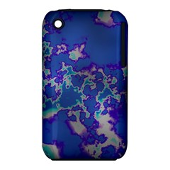 Unique Marbled Blue Apple Iphone 3g/3gs Hardshell Case (pc+silicone) by MoreColorsinLife